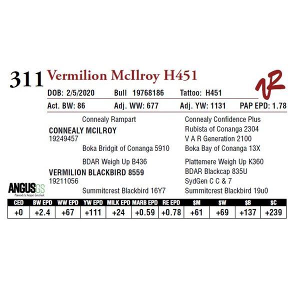 VERMILION MCILROY H451
