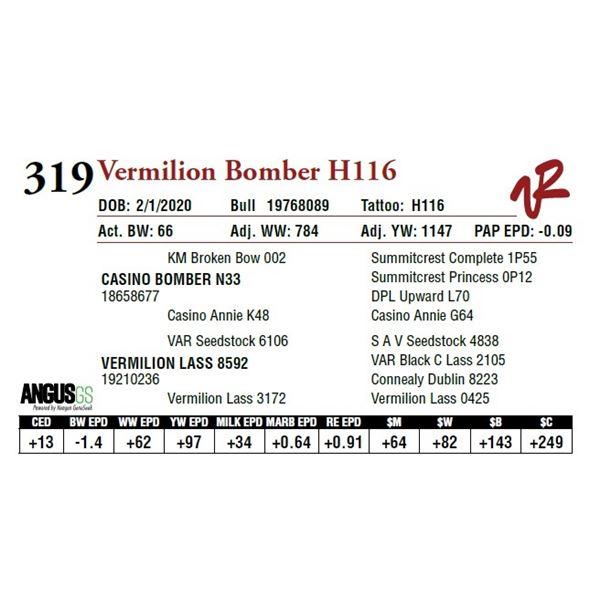 VERMILION BOMBER H116