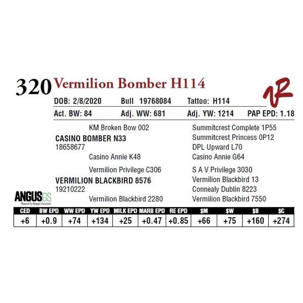 VERMILION BOMBER H114