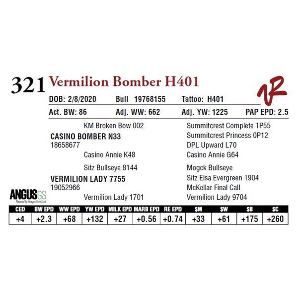 VERMILION BOMBER H401
