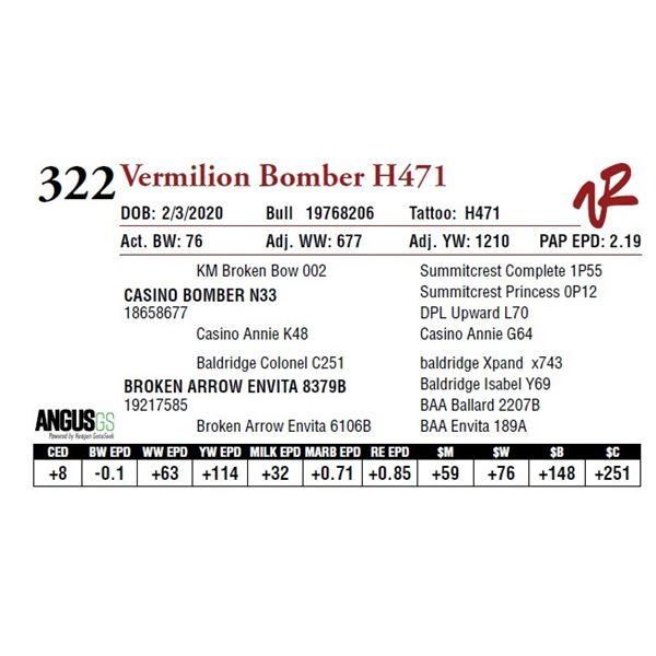 VERMILION BOMBER H471