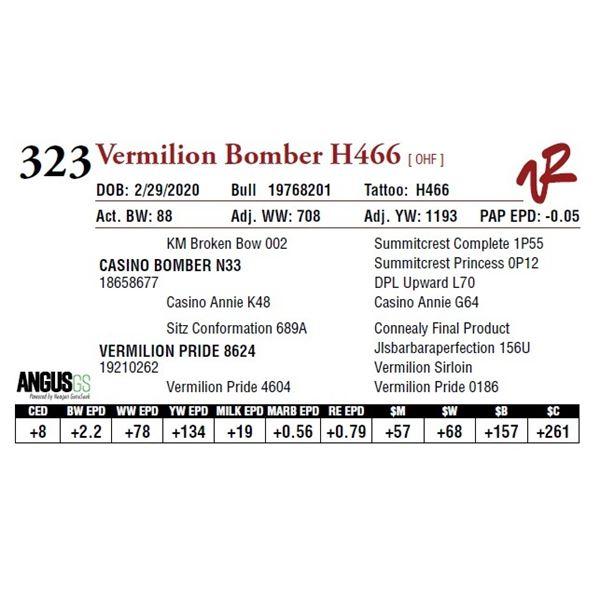 VERMILION BOMBER H466