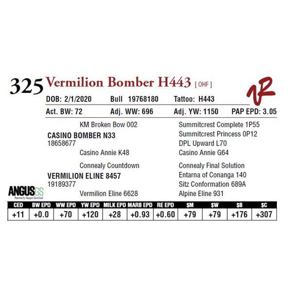 VERMILION BOMBER H443