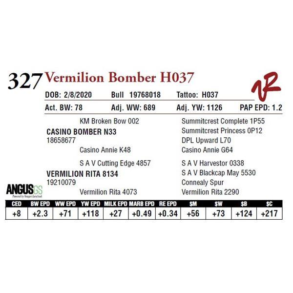 VERMILION BOMBER H037