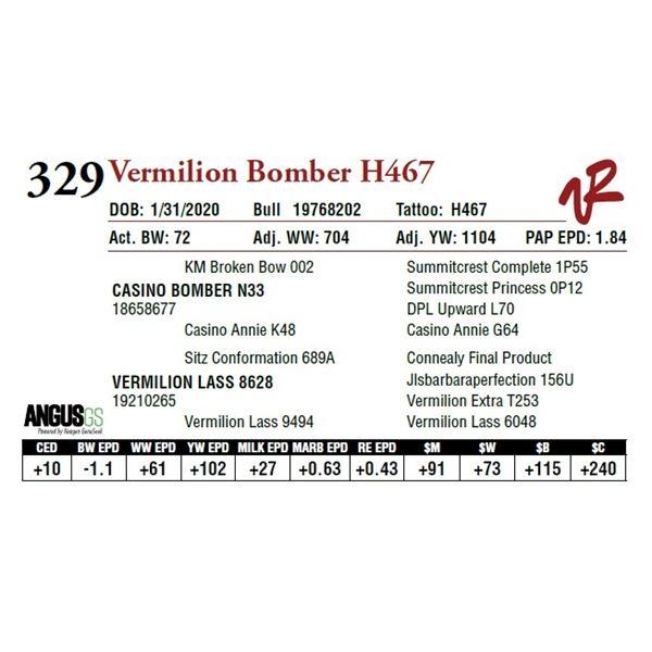 VERMILION BOMBER H467