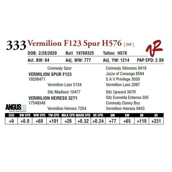 VERMILION F123 SPUR H576