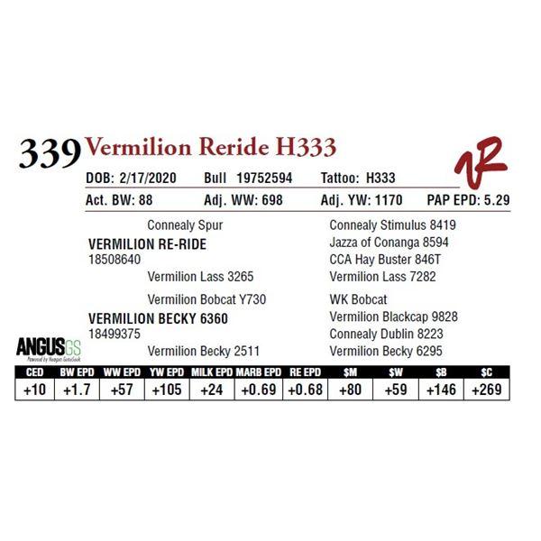 VERMILION RERIDE H333
