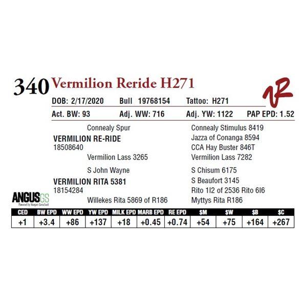 VERMILION RERIDE H271