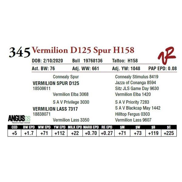 VERMILION D125 SPUR H158