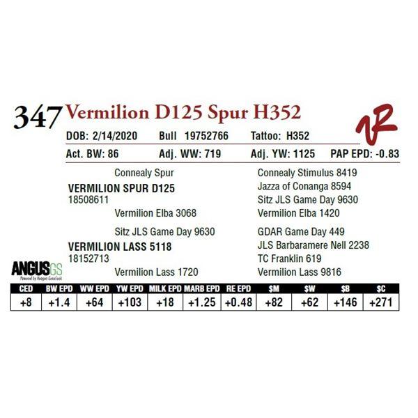 VERMILION D125 SPUR H352