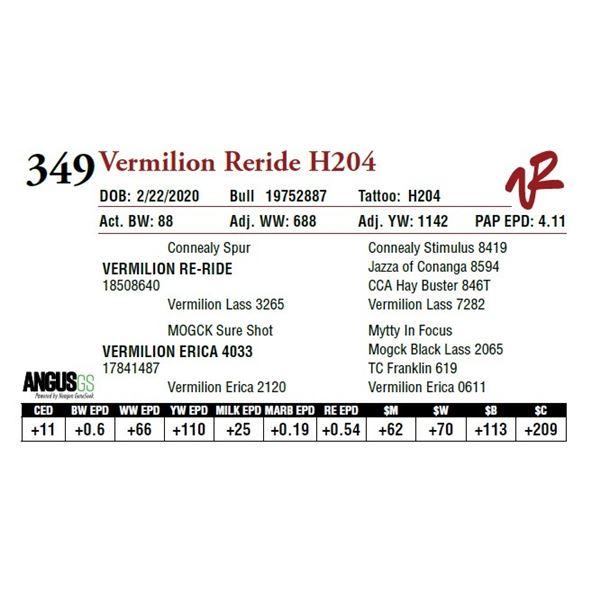 VERMILION RERIDE H204