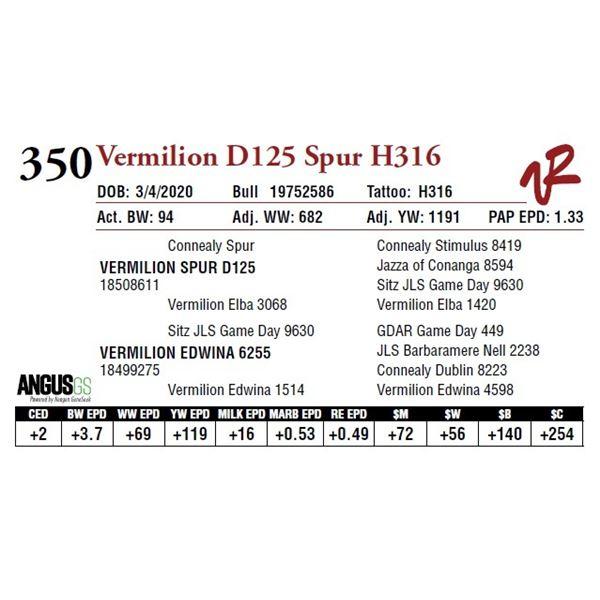 VERMILION D125 SPUR H316