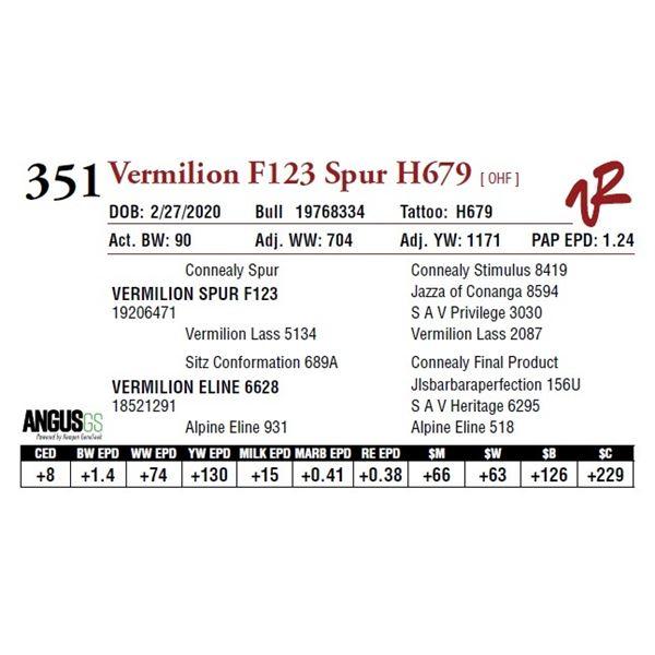 VERMILION F123 SPUR H679