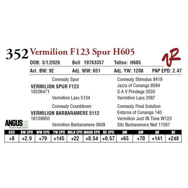 VERMILION F123 SPUR H605