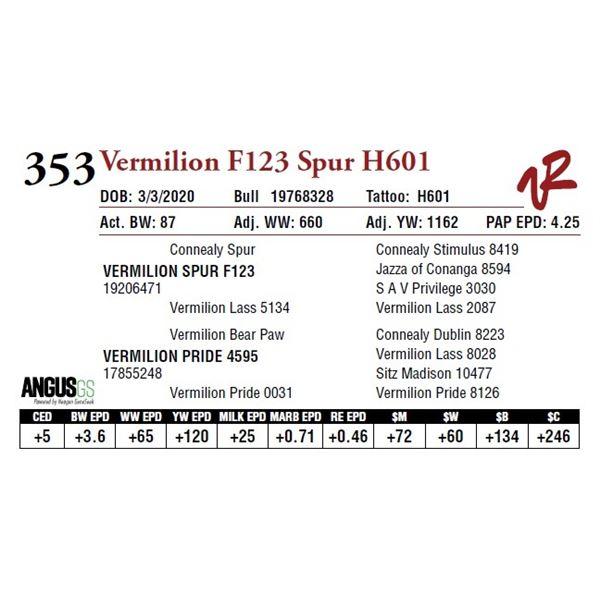 VERMILION F123 SPUR H601