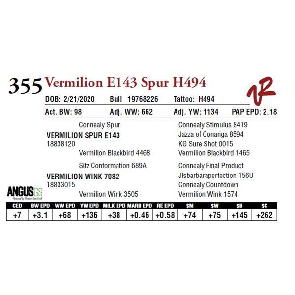 VERMILION E143 SPUR H494