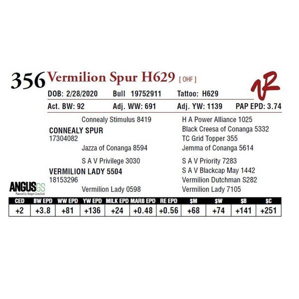 VERMILION SPUR H629
