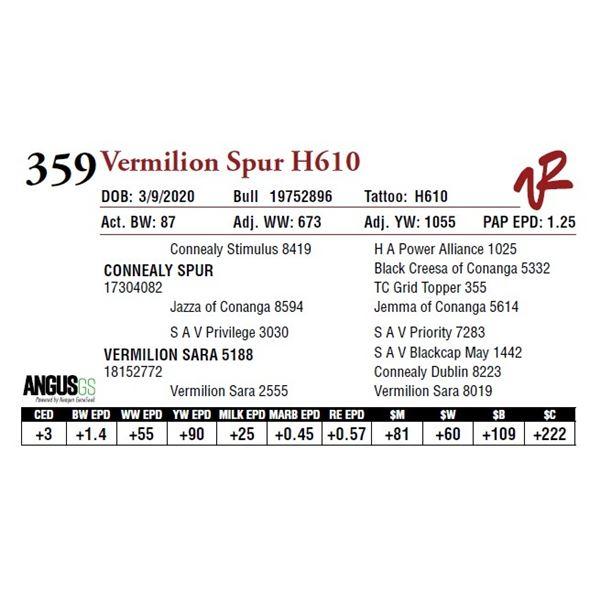 VERMILION SPUR H610