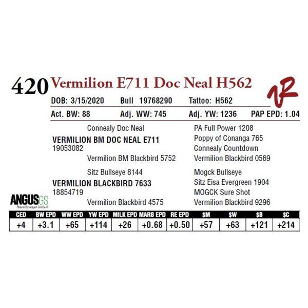 VERMILION E711 DOC NEAL H562