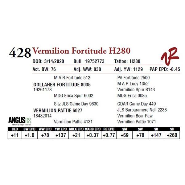 VERMILION FORTITUDE H280
