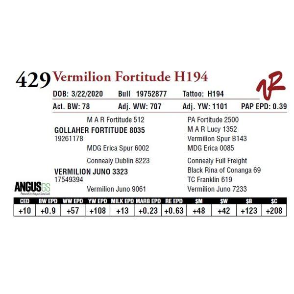 VERMILION FORTITUDE H194