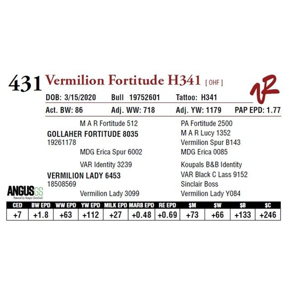 VERMILION FORTITUDE H341