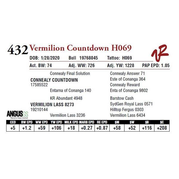 VERMILION COUNTDOWN H069