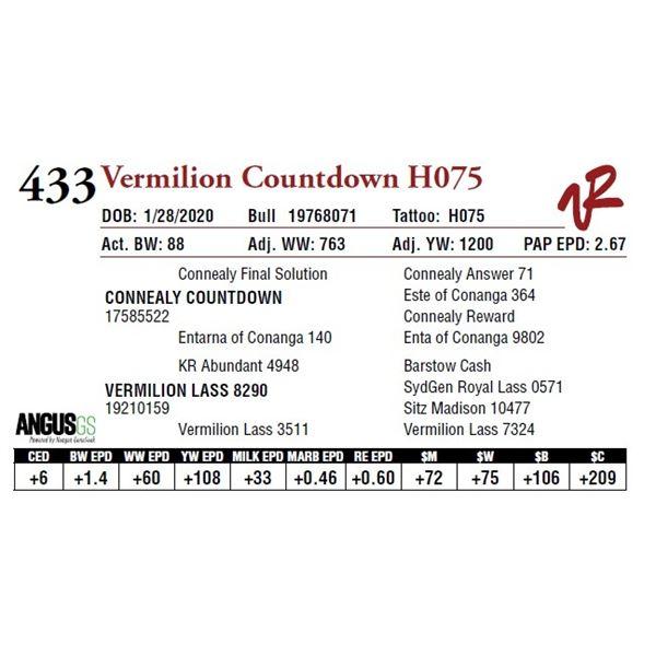 VERMILION COUNTDOWN H075