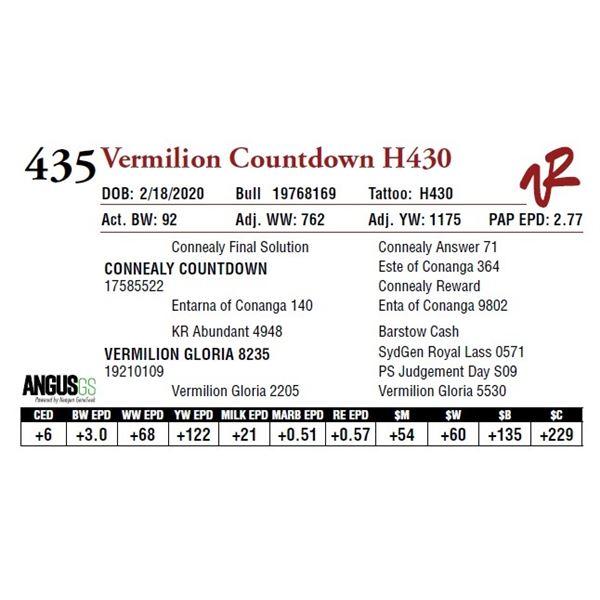 VERMILION COUNTDOWN H430
