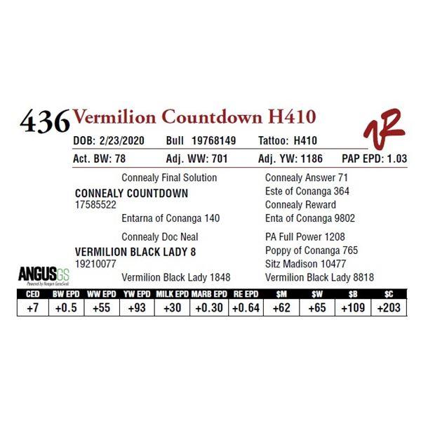 VERMILION COUNTDOWN H410