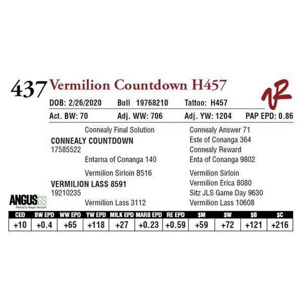 VERMILION COUNTDOWN H457