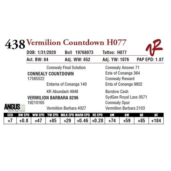 VERMILION COUNTDOWN H077