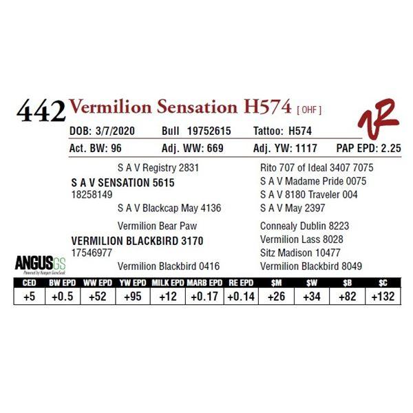 VERMILION SENSATION H574