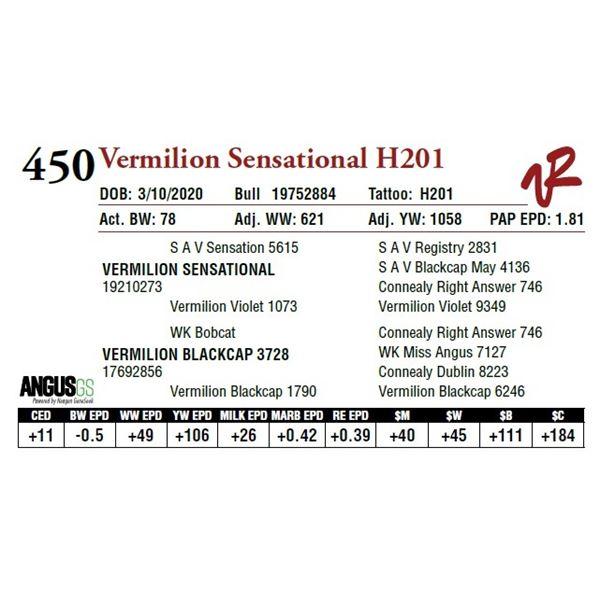 VERMILION SENSATIONAL H201
