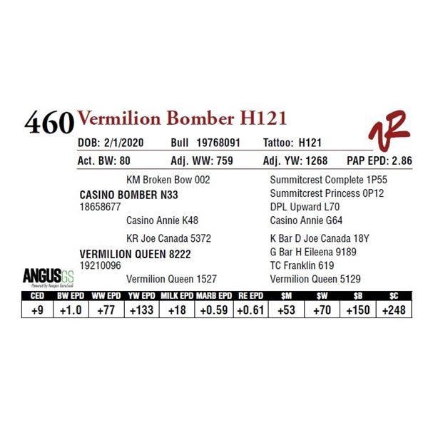 VERMILION BOMBER H121
