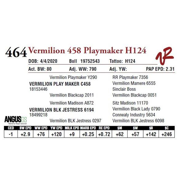 VERMILION 458 PLAYMAKER H124