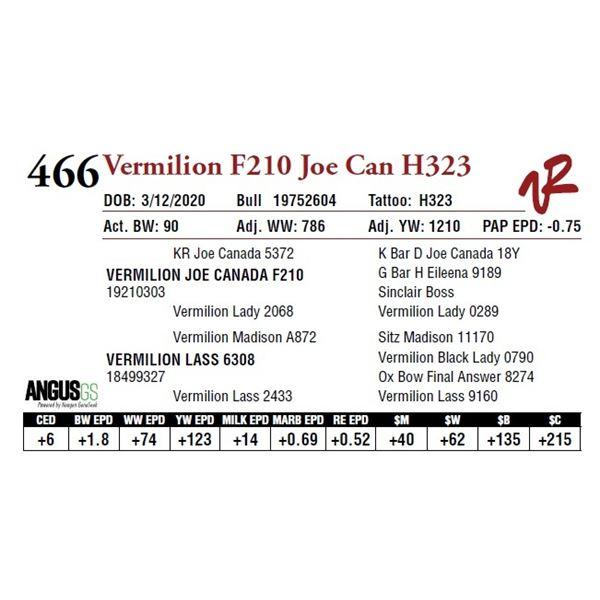 VERMILION F210 JOE CANADA H323