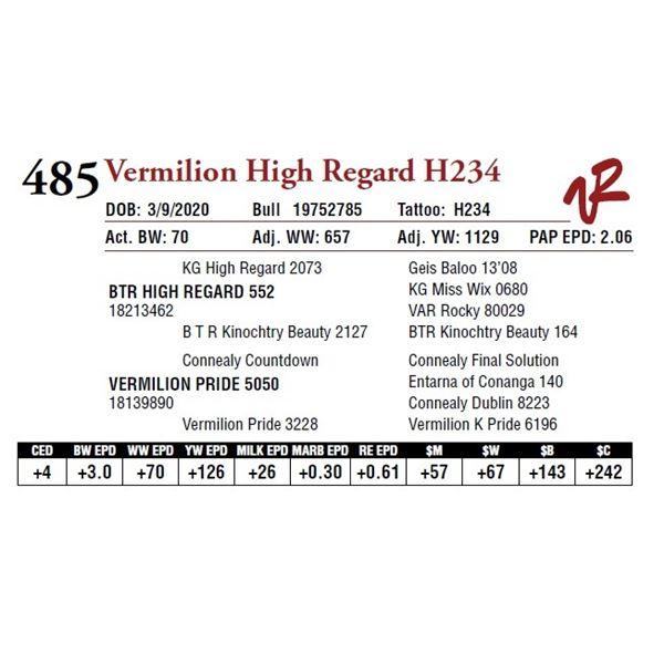 VERMILION HIGH REGARD H234