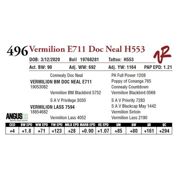 VERMILION E711 DOC NEAL H553