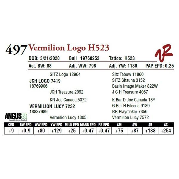 VERMILION LOGO H523