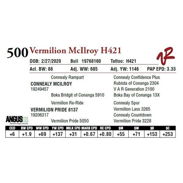 VERMILION MCILROY H421
