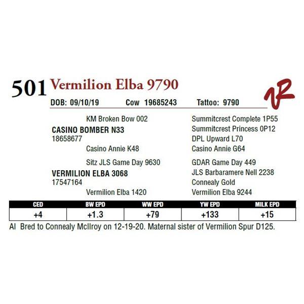 VERMILION ELBA 9790
