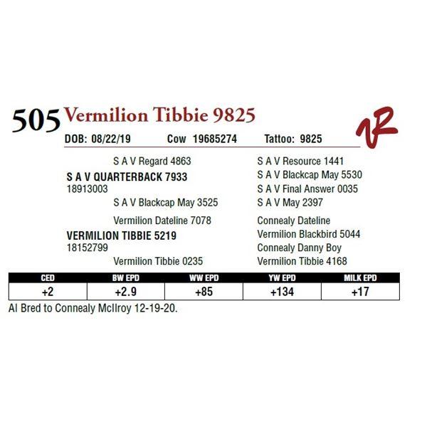 VERMILION TIBBIE 9825