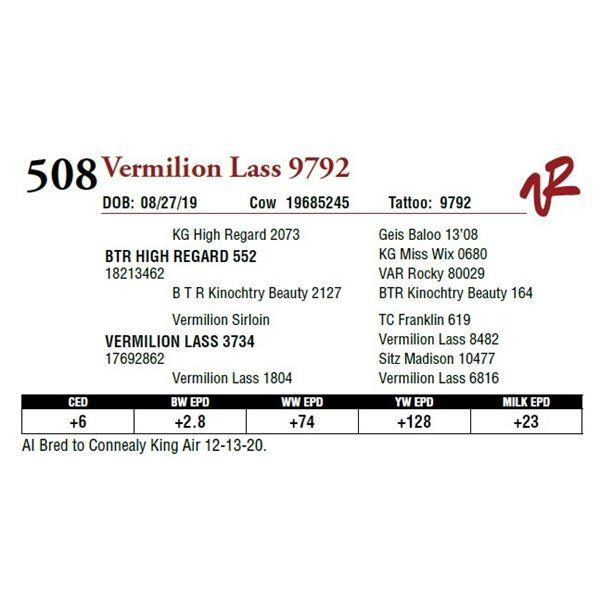 VERMILION LASS 9792