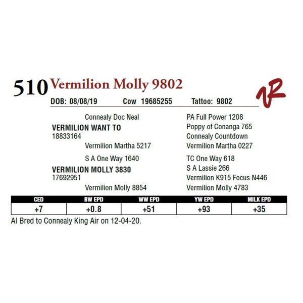 VERMILION MOLLY 9802