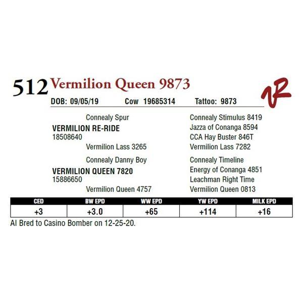 VERMILION QUEEN 9873