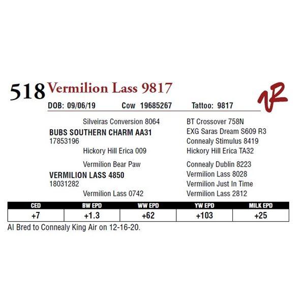 VERMILION LASS 9817