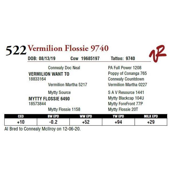 VERMILION FLOSSIE 9740