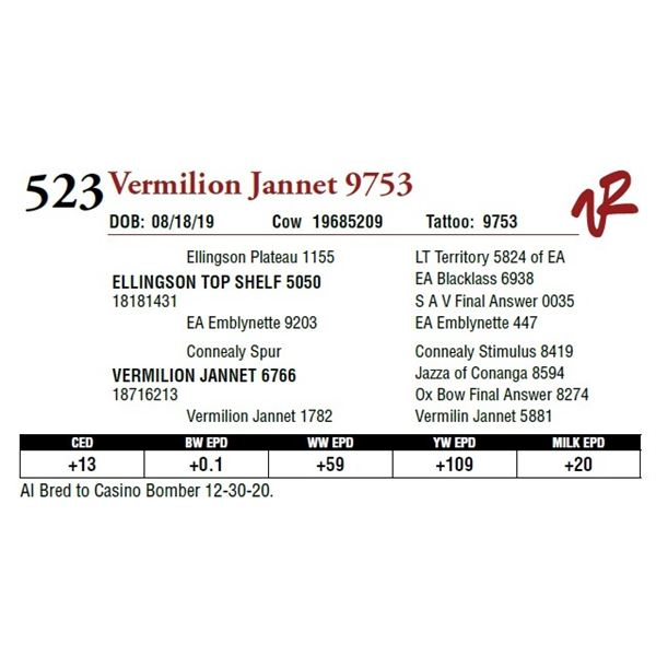 VERMILION JANNET 9753