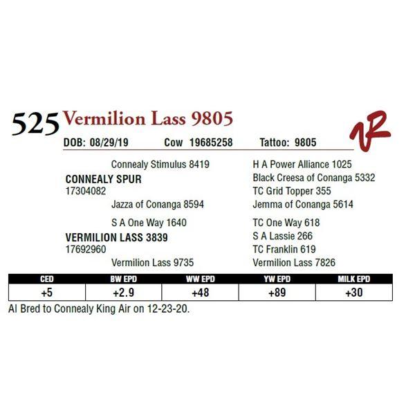 VERMILION LASS 9805